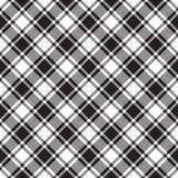 Black white diagonal check texture seamless pattern Royalty Free Stock Images