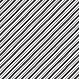 Diagonal hand drawn uneven stripes, lines seamless pattern. Black and white diagonal hand drawn uneven stripes, streaks seamless repeat background, pattern Royalty Free Illustration