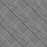 Black and white diagonal hounds tooth abstract and vector repeat background design stock illustration