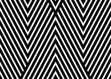 Black and white diagonal lines with triangular shapes background, vector texture. Vector seamless pattern. Decorative ornament, figurative design template with Royalty Free Stock Image