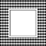 Black and White Diamond Background with Frame. With center for copy-space, Classic Diamond Background Royalty Free Stock Image