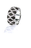 Black and white diamond onyx pave wedding fashion ring band Royalty Free Stock Image