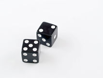 Black and white dice Stock Photos