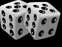 Black And White, Dice, Dice Game, Monochrome Photography Royalty Free Stock Photography