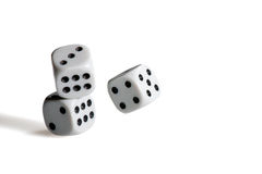 Black and white dices Royalty Free Stock Image