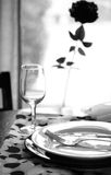 Black and White Dinner Royalty Free Stock Photos