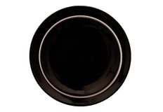 Black and white dinner plates. Royalty Free Stock Photography