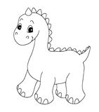Black and white - dinosaur. A sketch in black and white of a dinosaur Royalty Free Stock Photography