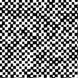 Black and white distort checkered abstract background. Vector Royalty Free Stock Photo