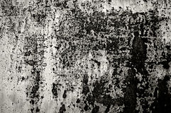 Black and White Distressed Metal Oxidizing Royalty Free Stock Photo