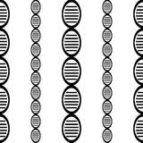 Black and white DNA genome simple seamless pattern eps10 Royalty Free Stock Photo
