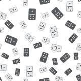 Black and white domino pattern. Seamless vector. Black and white domino pattern. Seamless domino vector pattern royalty free illustration