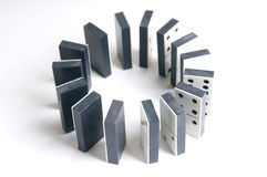 Black and white dominos in a circle Stock Photos
