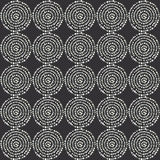 Black and white dot mandala. Royalty Free Stock Image