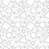 Black and white doted abstract geometric shapes seamless pattern, vector. Background Royalty Free Stock Image