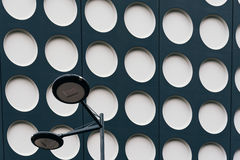 Black and white doted modern architecture Stock Photography
