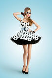 Black and white dots. Stock Image