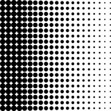 Black and white dots background in Halftone design. Vector illustration. Royalty Free Stock Images
