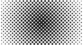 Black and white dots background in Halftone design. Vector illustration. Stock Photo