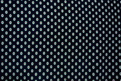 Black and white dots fabric background Royalty Free Stock Images