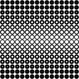 Black and white dots pattern stock illustration