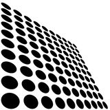 Black and white dots. Black and white transformed dots Royalty Free Stock Photography
