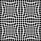 Black and white dots. Black and white transformed dots Royalty Free Stock Images