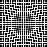 Black and white dots. Black and white transformed dots Royalty Free Stock Photo