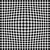 Black and white dots. Black and white transformed dots Stock Image