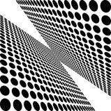 Black and white dots Stock Photography
