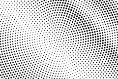 Black and white dotted gradient. Contrast half tone  background. Minomalistic dotted halftone. Monochrome retro texture. Black ink dot on transparent backdrop Royalty Free Stock Images