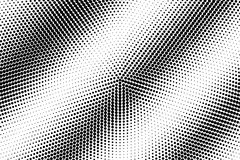Black and white dotted halftone  background. Diagonal dotted pattern gradient. Abstract monochrome background. Black ink dots on transparent backdrop Stock Image
