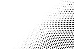 Black and white dotted halftone  background. Faded diagonal dotted overlay. Abstract monochrome background. Black ink dotwork on transparent backdrop Stock Images
