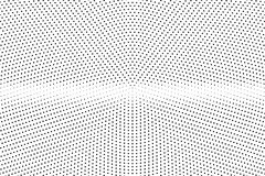 Black and white dotted halftone  background. Horizontal dotted gradient. Abstract monochrome background. Black ink dotwork on transparent backdrop. Perforated Stock Photo