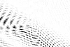 Black white dotted halftone  background. Light dotted gradient. Monochrome halftone pop art design. Abstract grayscale halftone texture. Black ink dot vintage Stock Photography
