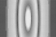 Black white dotted halftone. Half tone  background. Vertical stretched oval dotted gradient. Abstract minimal texture. Black dot on transparent backdrop. Pop Royalty Free Stock Photography