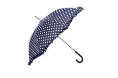 Black and white dotted umbrella Royalty Free Stock Photo