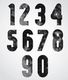 Black and white dotty decorative numbers. Stock Images