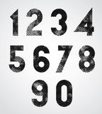 Black and white dotty graphic decorative numbers. Royalty Free Stock Images