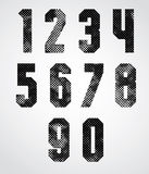 Black and white dotty graphic industrial numbers Stock Photo