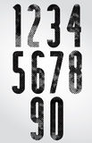 Black and white dotty graphic narrow numbers. Stock Photography