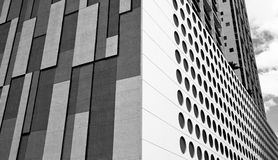 Black and White Downtown Buildings stock photos