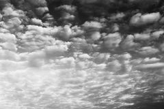 Black and white dramatic clouds background Royalty Free Stock Images