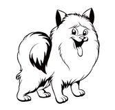 Black and white drawing of the dog Royalty Free Stock Photography