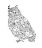 Black and white drawing, seamless pattern, illustration Stock Image