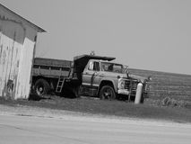 Black And White Dump Truck Stock Photo