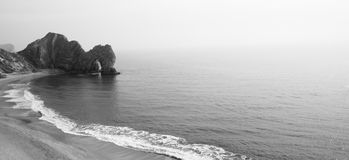 Black and White Durdle Door, Lulworth Cove Stock Images
