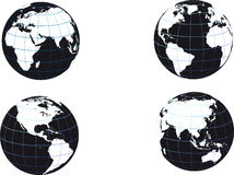 Black and white earth globe Stock Photos