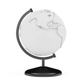 Black and White Earth Planet Globe Stand. 3d Rendering. Black and White Earth Planet Globe Stand on a white background. 3d Rendering Stock Photography