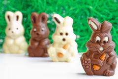 Black and white easter bunnies Stock Photo